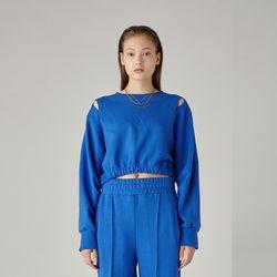 슬릿 크롭 스웨츠(BLUE)