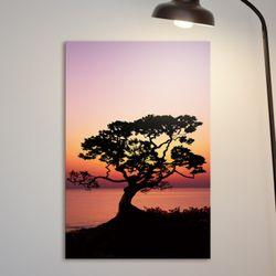 cv220-노을과소나무풍경중형노프레임
