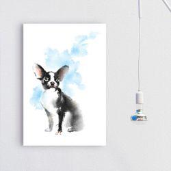 iv115-강아지들의그림중형노프레임