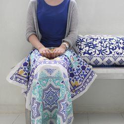 [Fabric] 터키발매트 컷트지 민트 Color Foot rug Cut Linen