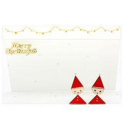 크리스마스투명카드(3인세트)-꼬마산타