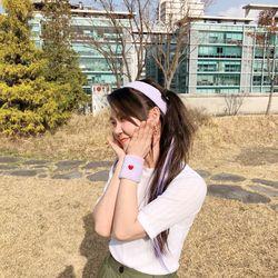 인생샷 헤어밴드 + 우정샷 손목아대 (2 colors세트상품)