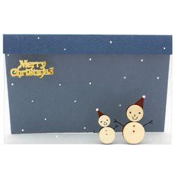 크리스마스투명카드(3인세트)-눈사람