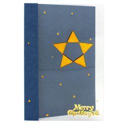 크리스마스투명카드(3인세트)-별