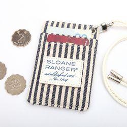 Card Wallet - Denim Stripe