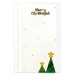 크리스마스투명카드(3인세트)-트리