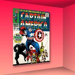마블 코믹스 인테리어 액자 : 캡틴아메리카100 (대)
