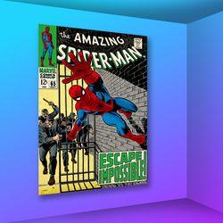 마블 코믹스 인테리어 액자 : 어메이징 스파이더맨65 (대)