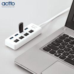 엑토 알파 USB LAN 어댑터 3.0 허브 HUBL-03 랜선을