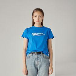 로고 티셔츠(BLUE) S