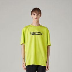 로고 티셔츠(GREEN) L