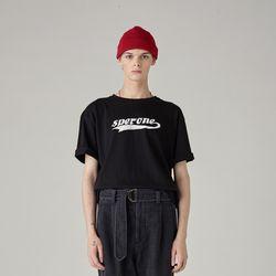 로고 티셔츠(BLACK) L