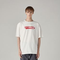 로고 티셔츠(WHITE) L