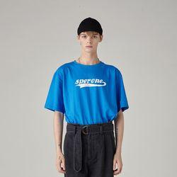 로고 티셔츠(BLUE) L