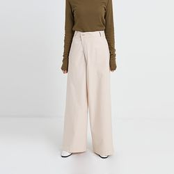 oblique thin wide pants (2colors)