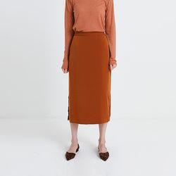 h-line shine slit skirt (3colors)