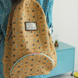 [Fabric] Sunshine Poppy Bloom Pattern Linen (양귀비 린넨)