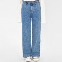 pintuck straight denim pants (s m l)
