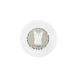 화이트 고양이 미니 접시