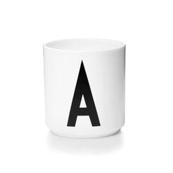 포슬린 알파벳 컵(화이트)-알파벳선택