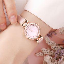 트윙클스타 여성 핑크 가죽시계 (OTW118901APP)