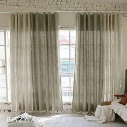 루이즈 멜란지 핀형 방염커튼(창문형140x170)2장+봉(300)