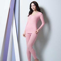 BYC 여성 내복 베이직 상하 Q0207 핑크피치 CH1408274