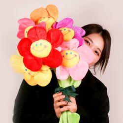 SNS대란 갓샵 스마일꽃인형 장미 플라워 봉제인형 30cm