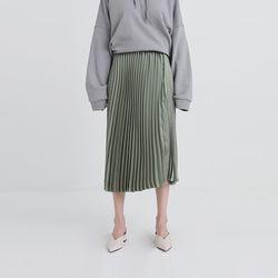 shine pleats banding skirt (3colors)