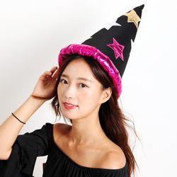 별무늬 마법사모자 (핑크)