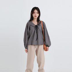 alps check strap blouse (2colors)