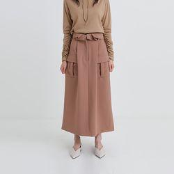 pintuck flap long skirt (2colors)