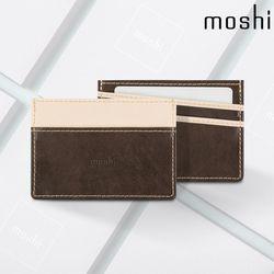 모쉬 소프트 식물성 가죽 카드 명함 지갑 오크브라운