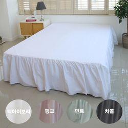 달린 프릴 워싱코튼 침대커버 Q 4color