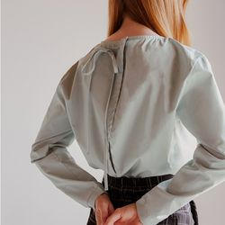 BACK ROPE BLOUSE (MINT)