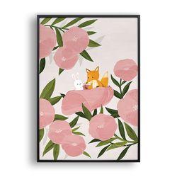 분홍꽃사이