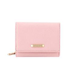 [라템] 심플 골드엣지 3단지갑 핑크(AG2H8818DAPP)