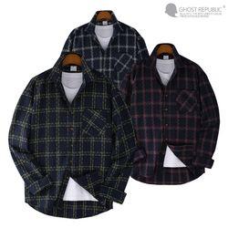 오버핏 로얄 체크 포켓 긴팔 셔츠 MSH-554