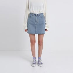 crack denim mini skirt (4colors)