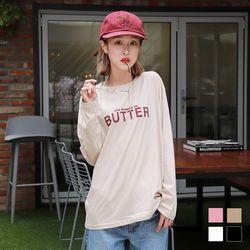 2256 버터 긴팔 티셔츠 (4colors)