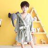 [무료배송] [엔비키즈] 아동 샤워가운 극세사그레이 목욕가운 샤워타올