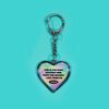 HEART STEEL KEY HOLDER FOREVER