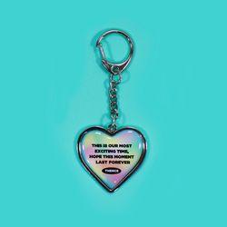 HEART STEEL KEY HOLDER FOREVER