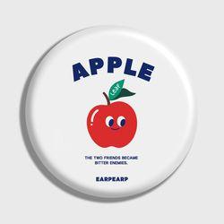 [손거울]Leaf apple-white