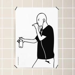 유니크 인테리어 디자인 포스터 M 힙합 랩퍼 A3(중형)