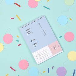 2019 Happy month desk calendar - 해피먼스 캘린더