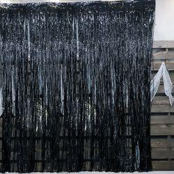 [~10/31까지] 은박 파티커튼 (1mX3m) 블랙