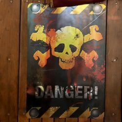 [~10/31까지] DANGER 해골 포스터