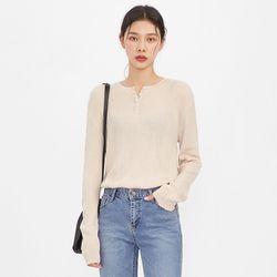 rose golgi button knit
