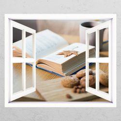 cg677-독서의계절창문그림액자